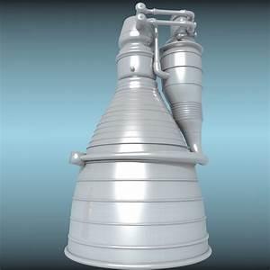 3d Model Rocket Exhaust Engine