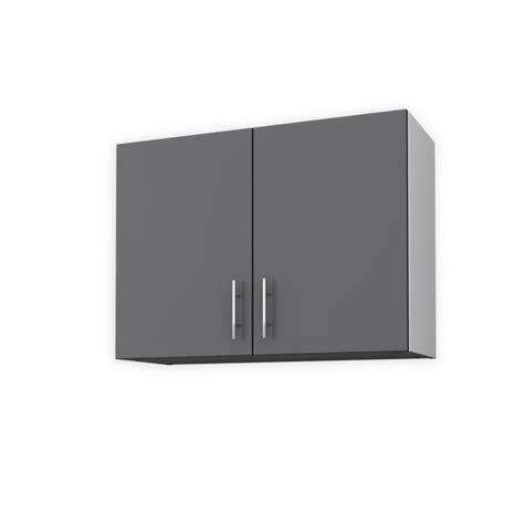 meuble haut cuisine 80 cm obi meuble haut de cuisine l 80 cm gris mat achat