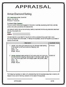 image gallery jewelry appraisal template With jewelry appraisal form template