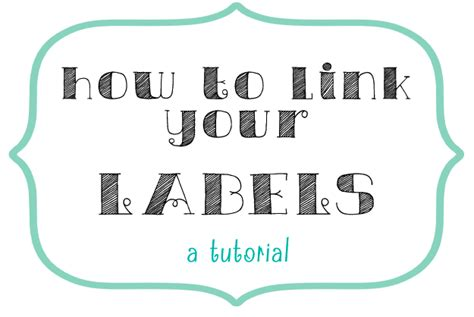 How To Tag A Link Or Page With A Label Link