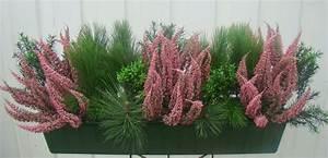 Künstliche Blumen Für Draußen : balkonkasten mit winterpflanzen ~ Michelbontemps.com Haus und Dekorationen