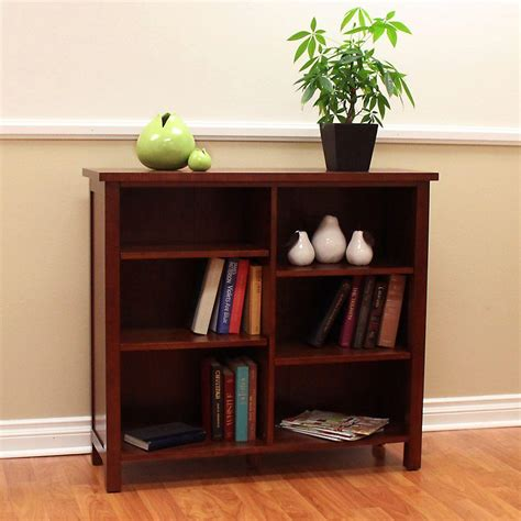 Cherry Bookcase by Concepts In Wood Midas Wide 6 Shelf Bookcase In