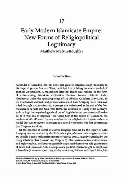 Islamicate Legitimacy Forms Empire Early Academia