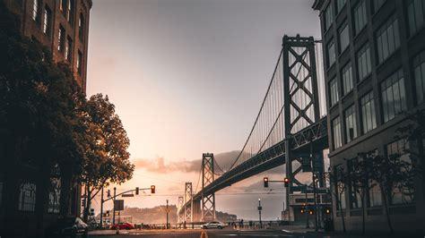 downaload city buildings bridge san francisco wallpaper