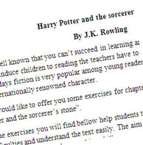 harry potter   sorcerers stone printable worksheet