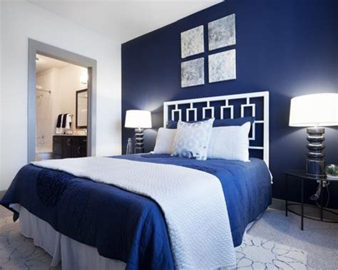 Blue And White Contemporary Bedroom Design Ideas by Blue Bedroom Design Ideas Remodels Photos Houzz