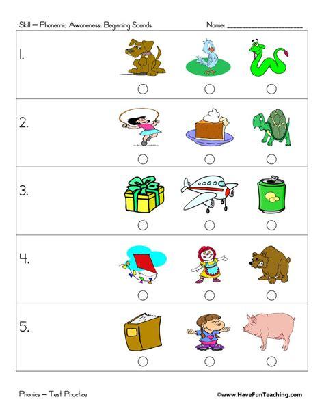 preschool test practice teaching