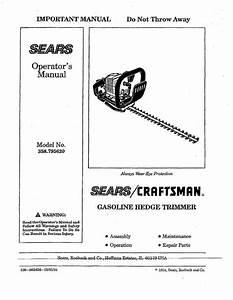 Craftsman Brushwacker 32cc Parts Diagram