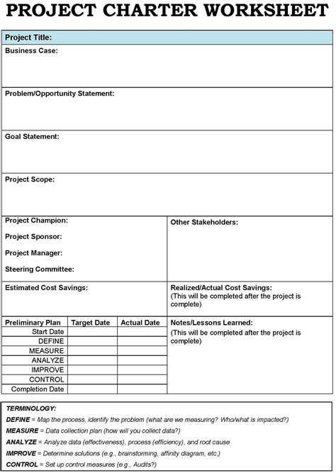 Project Charter Template Project Charter Templates Search Project