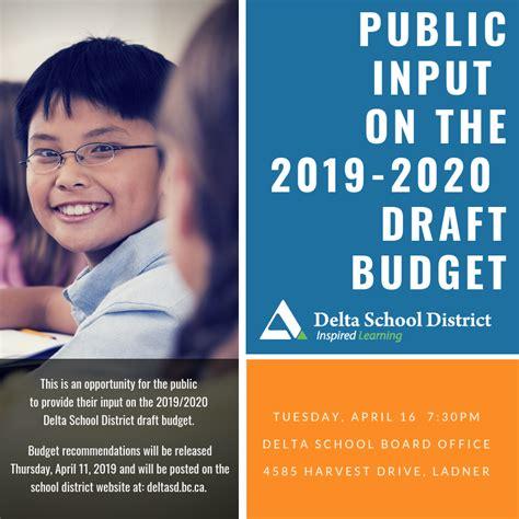 public board meeting delta school district