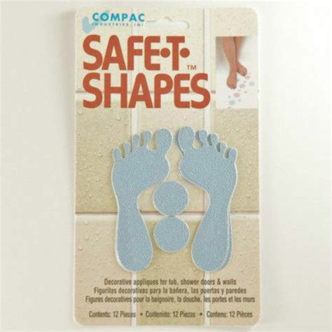 safe  shapes blue feet  slip safety applique stickers
