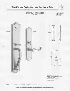 Baldwin Federal Style Solid Brass Handle Set