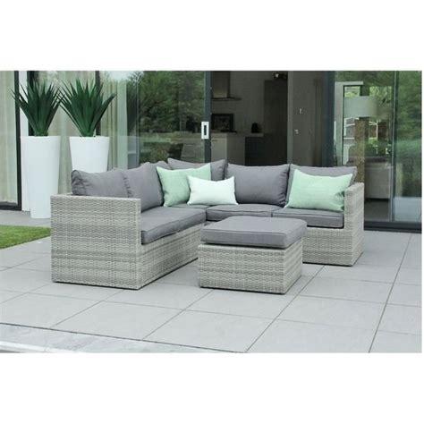 canape d angle exterieur resine mobilier de jardin en résine tressée design gris beige