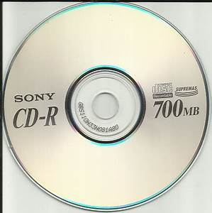 Free: (1) New Sony Supremas Recordable Compact Disk(CD-R ...