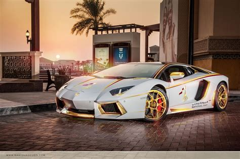 expensive cars gold meet the one off gold plated lamborghini aventador