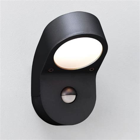 astro soprano pir black outdoor wall light with pir at uk