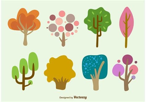 Hand Drawn Cartoon Tree Vectors