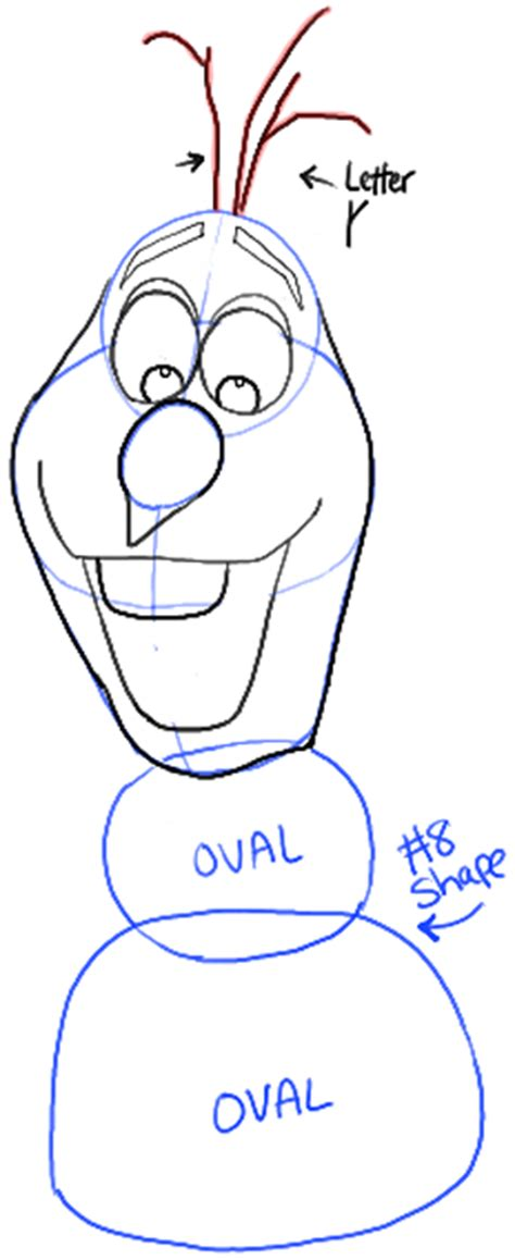 draw olaf  snowman  disneys frozen drawing