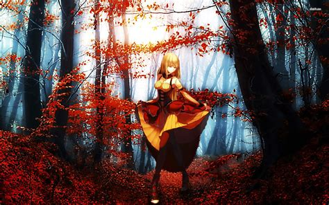Anime Fall Wallpaper - anime fall wallpapers wallpapersafari
