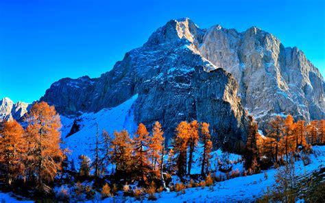 HD Background Kranjska Gora Slovenia Snow Mountains
