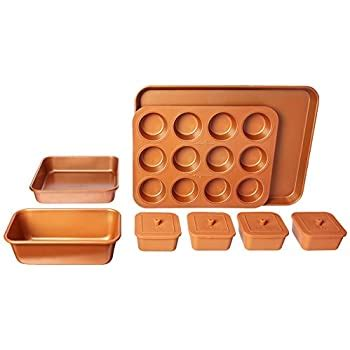 amazoncom copper chef  piece bakeware set kitchen dining