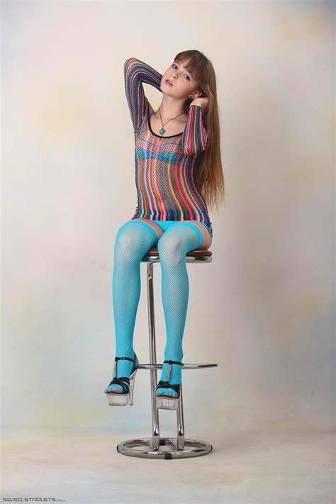Silver Starlets Eva Blue Stockings 1 151p Free Hot