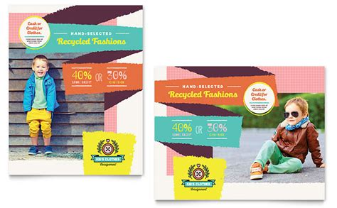 Consignment Shop Poster Template Design