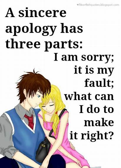 Apology Sorry Quotes Parts Sincere Three Relationships