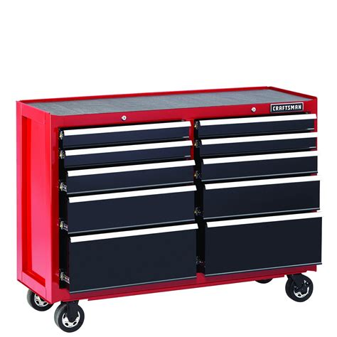 craftsman 5 drawer rolling tool box craftsman 52 quot 10 drawer soft rolling cart black