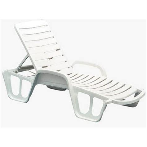 chaise longue en plastique blanc bain de soleil plastique blanc achat vente bain de