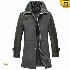 Mens Sheepskin Winter Coat Black CW856068