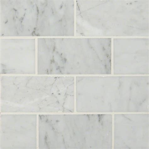 3x6 carrara marble tiles carrara white subway tile 3x6 subway tile white tile collection
