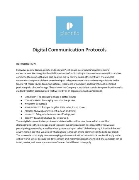 protocol template digital communications protocol template