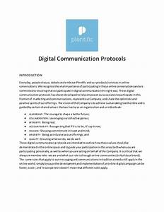 digital communications protocol template With project protocol template