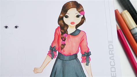 topmodel malbuch ein suesses maedchen zeichnen
