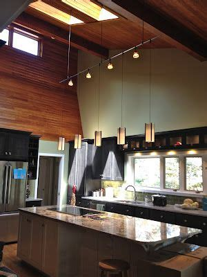 Kitchen Lighting Heals by Suspended Track Lighting System Debra Paessler Designs