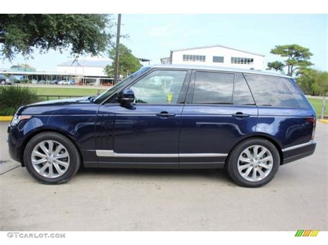 blue land rover 2016 loire blue metallic land rover range rover hse