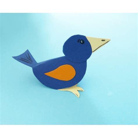 vogel basteln aus papier einen s 252 223 en bunten vogel basteln