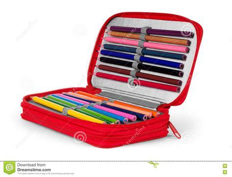 plumier de bureau écriture et outils de dessin dans un plumier pour l 39 école
