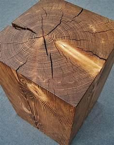 2, Hemlock, Wood, Block, Side, Tables, Reserved, For, Marion