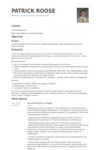 delivery manager resume summary call center operations manager resume exles