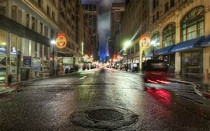 Street Background Night Wallpapers Streets Nyc St