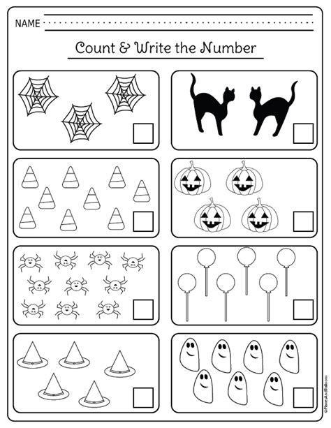 halloween math activities kindergarten students