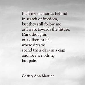 Painful Memories poem by Christy Ann Martine