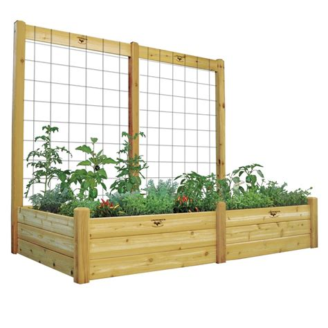gronomics raised garden bed with trellis kit safe finish