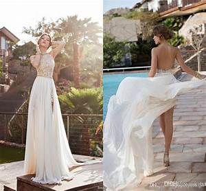 2015 julie vino summer beach high waist empire wedding for Wedding dresses for the beach 2015