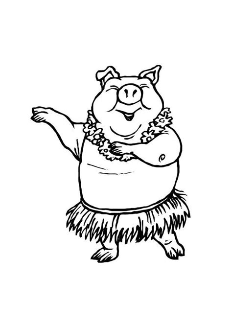 Coloring Page dancing pig free printable coloring pages