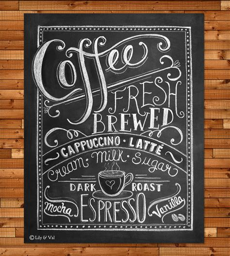 coffee chalkboard print prints posters val scoutmob product detail