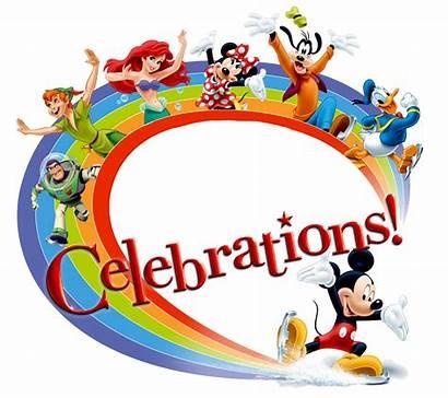Celebrations Clipart Disney Birthday Happy Disneyland Clipground