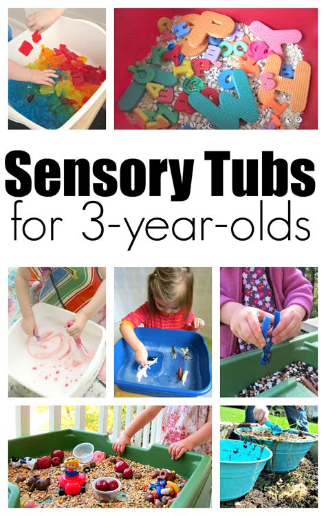sensory tubs   year olds  time  flash cards